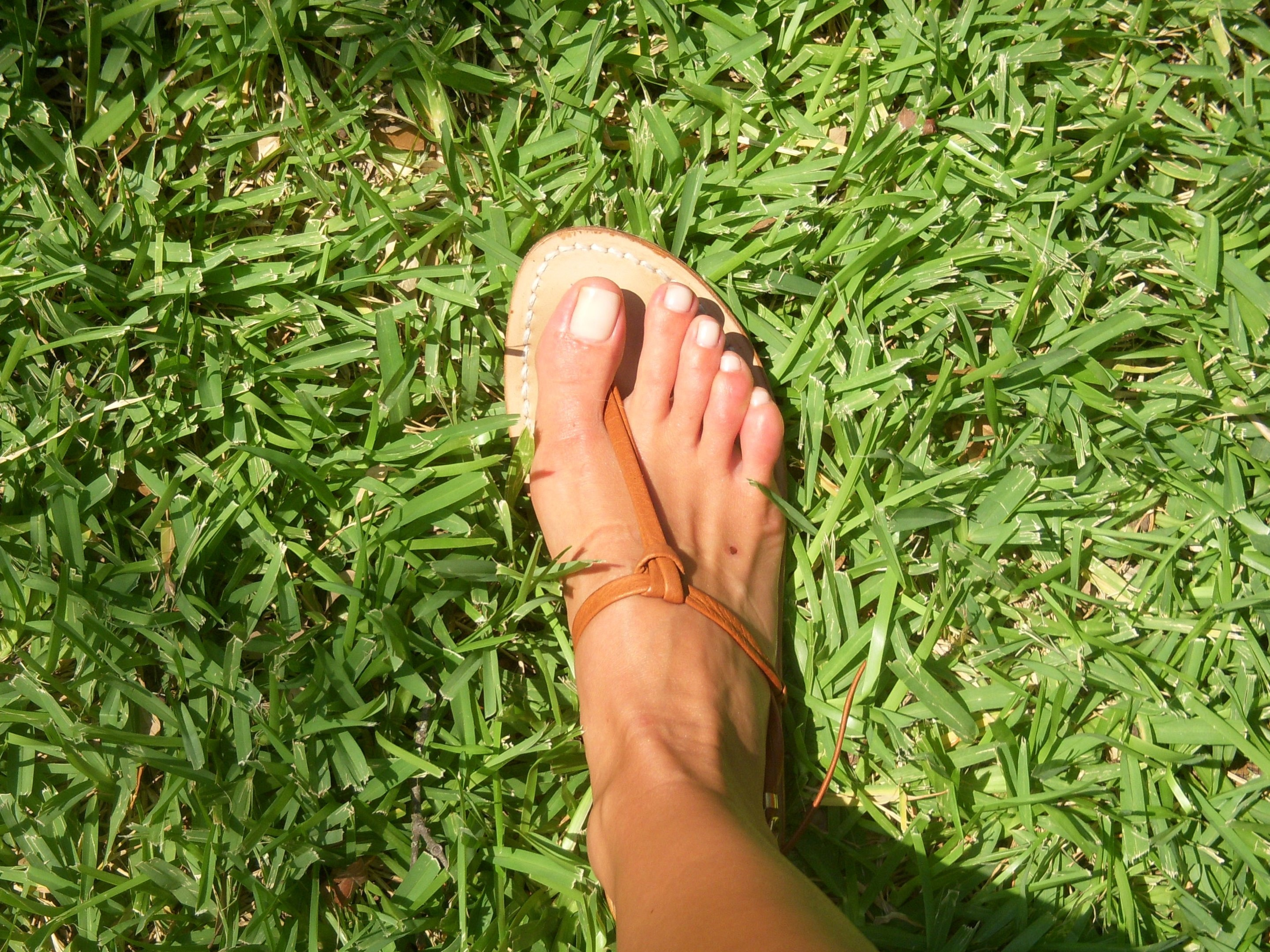 My handmade leather sandals from a shop in Capri.