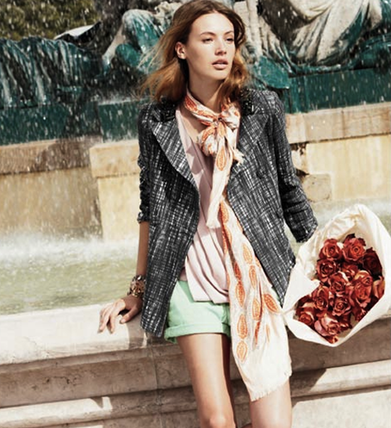 J. Crew Girl at Fountain
