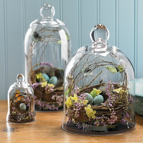 Handblown Nest Bell Jar-Williams-Sonoma-Camille Styles