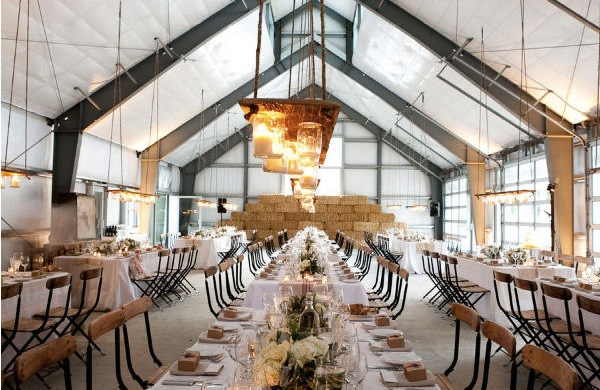 Barn Dining Room-Napa Wedding-The Bride's Guide-Style Me Pretty