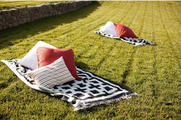 Blankets on Grass-Napa Wedding-The Bride's Guide-Style Me Pretty