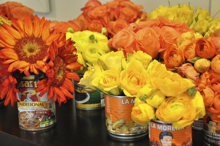 Final Flower Arrangements-Mexican Cans-Camille Styles