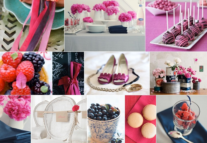 Today 39s inspiration board combines flashy fuschia with classic navy for a
