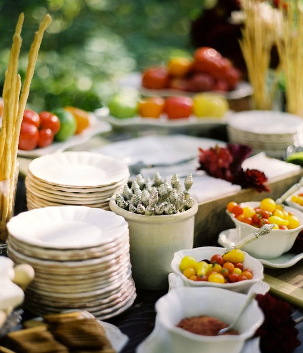Heirloom Tomato Bar-Jessica Claire Wedding-Love and Splendor-Camille Styles Events