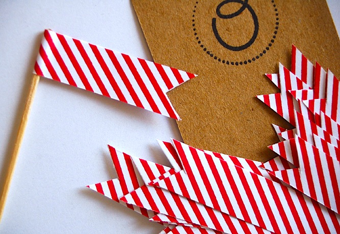 Red Striped Flags-Milk & Paper-Hello Lucky-Camille Styles Events