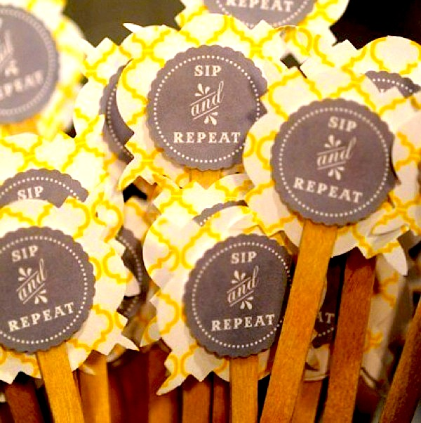 Sip and Repeat Drink Stirrers-Camille Styles Events
