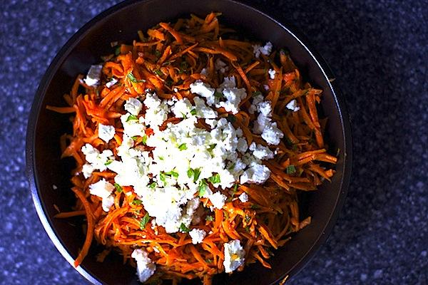 Carrot Salad with Harissa-Feta-Mint-Smitten Kitchen-Camille Styles Events