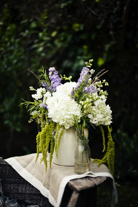 Flowers in Pitcher-Design Sponge-Provencal Picnic-Camille Styles Events