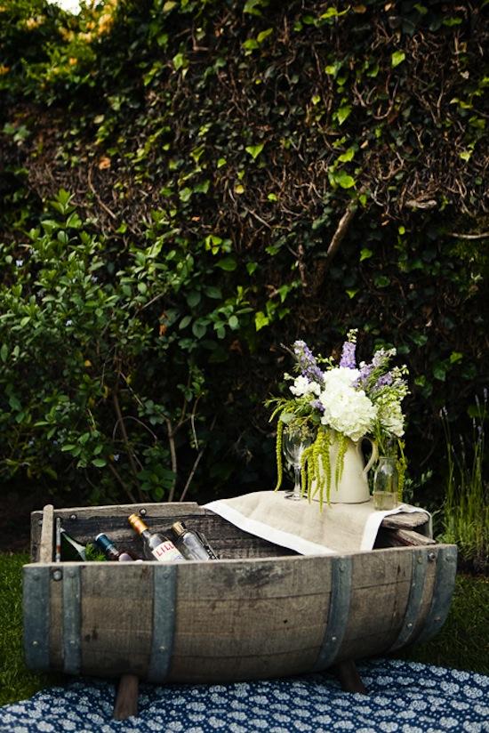 Wine Barrel Drink Boat-Design Sponge-Provencal Picnic-Camille Styles Events
