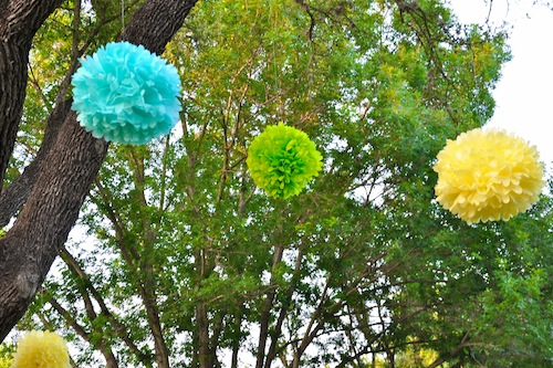 Tissue Paper Poms-Camille Styles Events