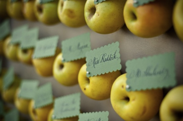 Apple Escort Cards-Halloween Wedding-The Sweetest Occasion-Camille Styles Events