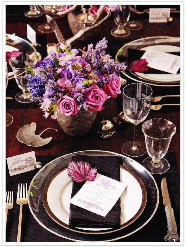 Black Magic - Camille Styles |Pink And Purple Table Setting