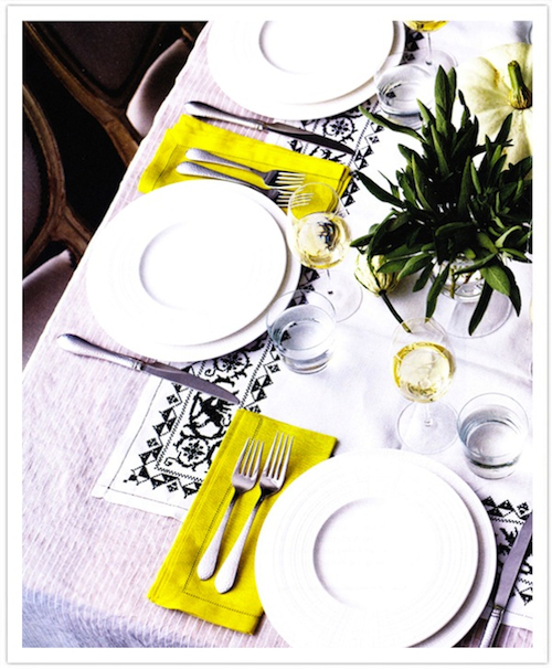 Black-Green White Modern Fall Table-Camille Styles Events