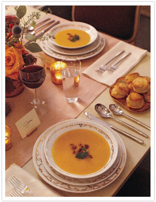 Butternut Squash Soup-Thanksgiving Table-Camille Styles-500