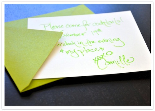 Green Cocktail Party Invitation-Camille Styles Events