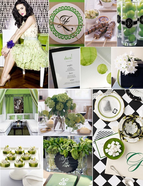 Green Fall Cocktail Party Inspiration Board-Camille Styles Events
