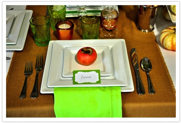 Modern Thanksgiving Table-Persimmon Place Card-Camille Styles