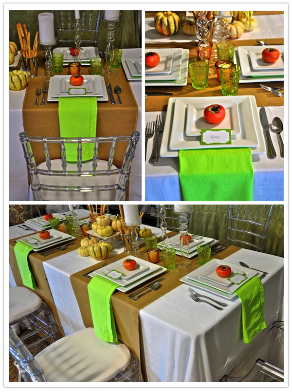 modern thanksgiving table-persimmon place setting-camille styles