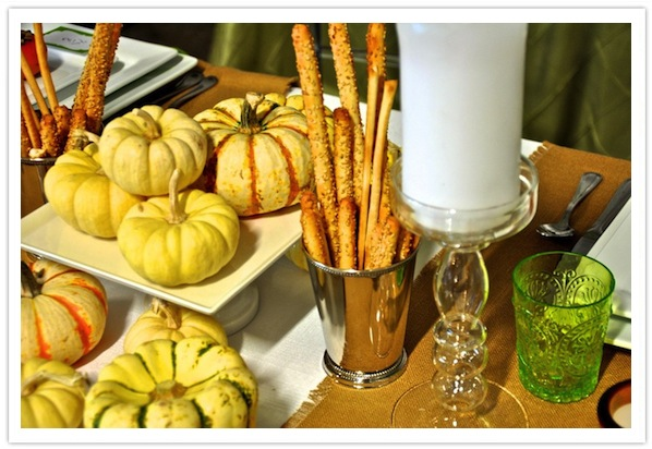 Modern Thanksgiving Table-White Pumpkins-Camille Styles