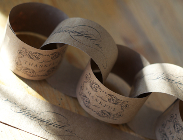 Thanksgiving printable thankful paper chain- Silverbox-Twig & Thistle-Camille Styles Events