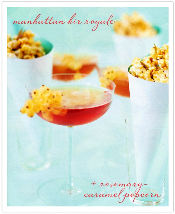 Best New Years Cocktails-Kir Royale-Rosemary Popcorn