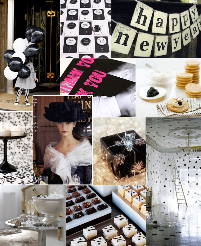 Black & White New Years Inspiration Board-Camille Styles