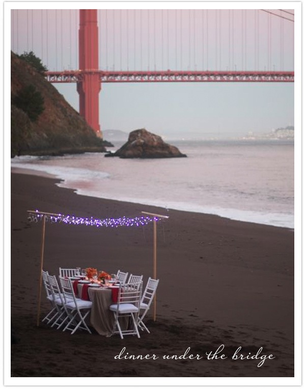Dinner Party under the golden gate bridge-Oh Happy Day